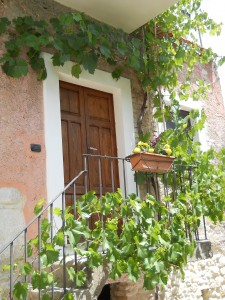 Entrance to La Vigna with Grapevine - Italy Country Stay