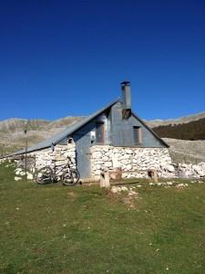 Mountain hut overnight hike
